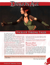 Faces of Thedas-Tallis