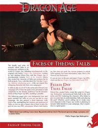Faces of Thedas-Tallis