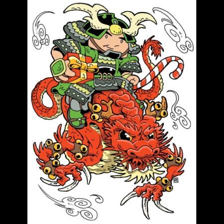 2006 Green Ronin holiday card, art by Ramsay Hong