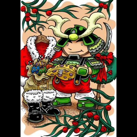 2008 Green Ronin holiday card, art by Ramsay Hong