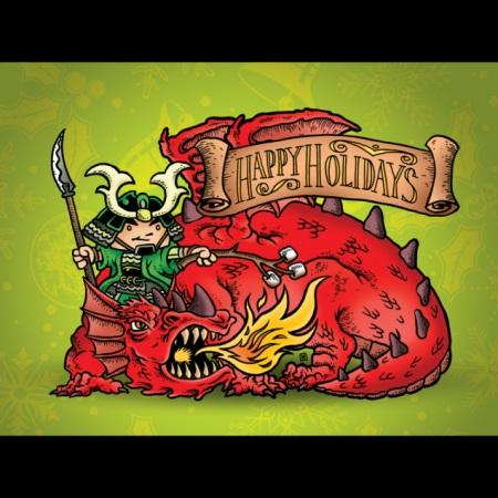 2010 Green Ronin holiday card, art by Ramsay Hong