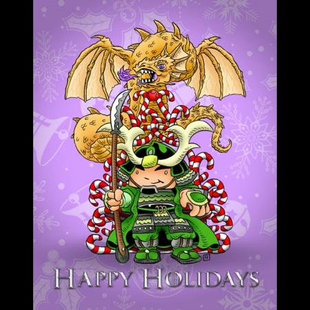 2011 Green Ronin holiday card, art by Ramsay Hong