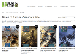 Game of Thrones Season 5 Sale