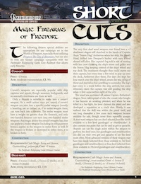 Short Cuts: Magic Firearms of Freeport for the Pathfinder RPG