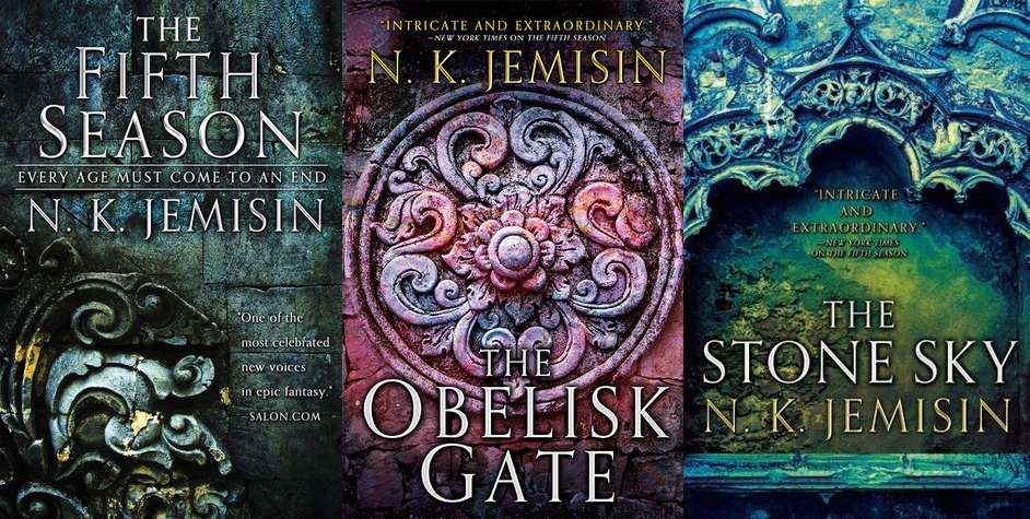 Green Ronin to publish The Fifth Season Roleplaying Game. [Image shows the three novel covers from N.K. Jemisin's The Broken Earth trilogy. The Fifth Season, The Obelisk Gate, and The Stone Sky.]