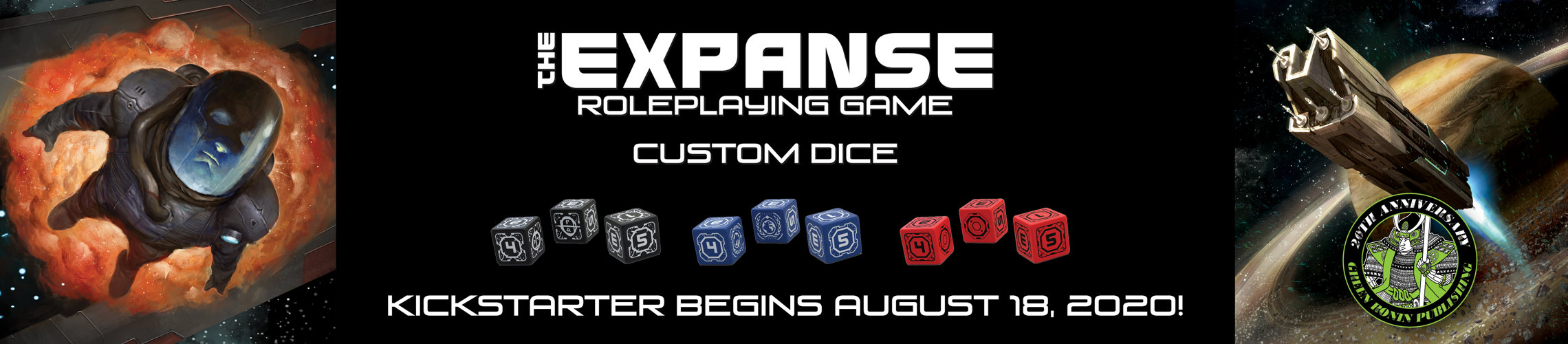 The Expanse RPG Custom Dice Kickstarter Begins 18 August 2020