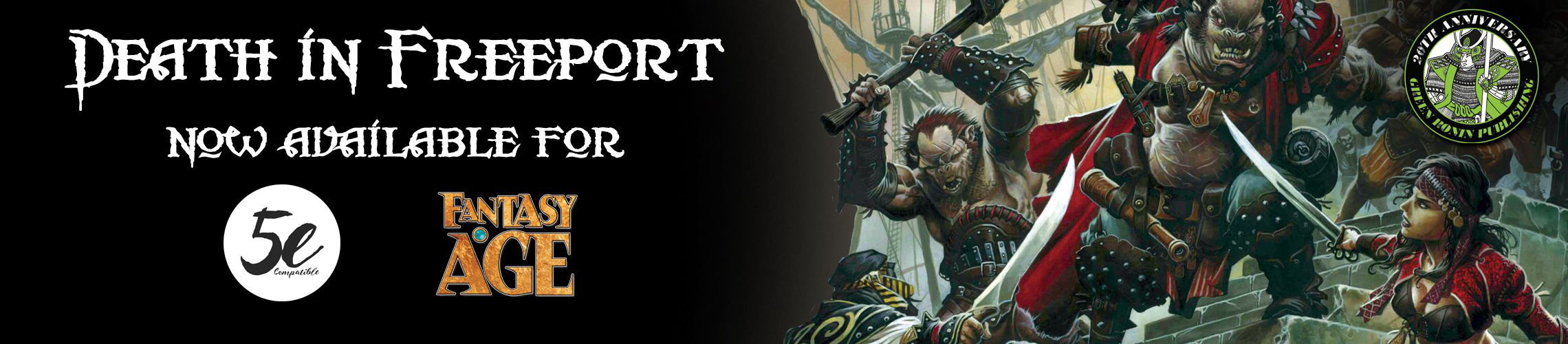 Death in Freeport: Now Available for 5e and Fantasy AGE RPG