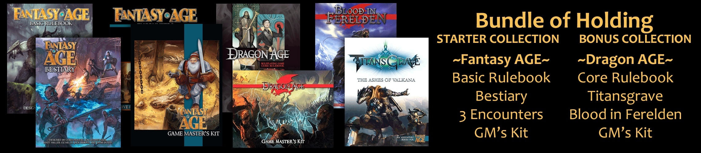 Dragon Age and Fantasy AGE RPGs: Now on Bundle of Holding