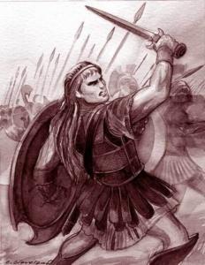 Achilles, son of Peleus and the goddess Thetis