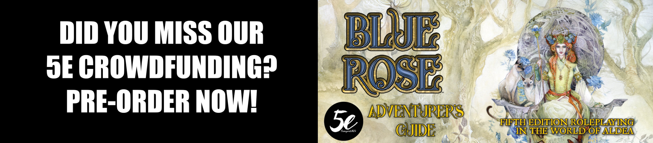 Blue Rose Adventurer's Guide for 5e: Missed the crowdfunder? Pre-order today!