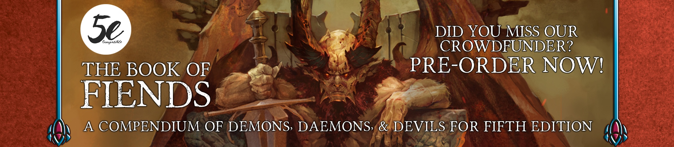 The Book of Fiends 5e: Missed the crowdfunder? Pre-order today!