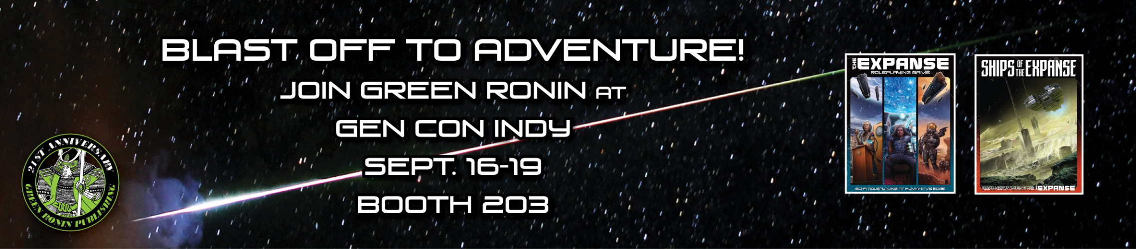 Blast Off To Adventure! Join Green Ronin At Gen Con Indy Sept 16-19 Booth 203