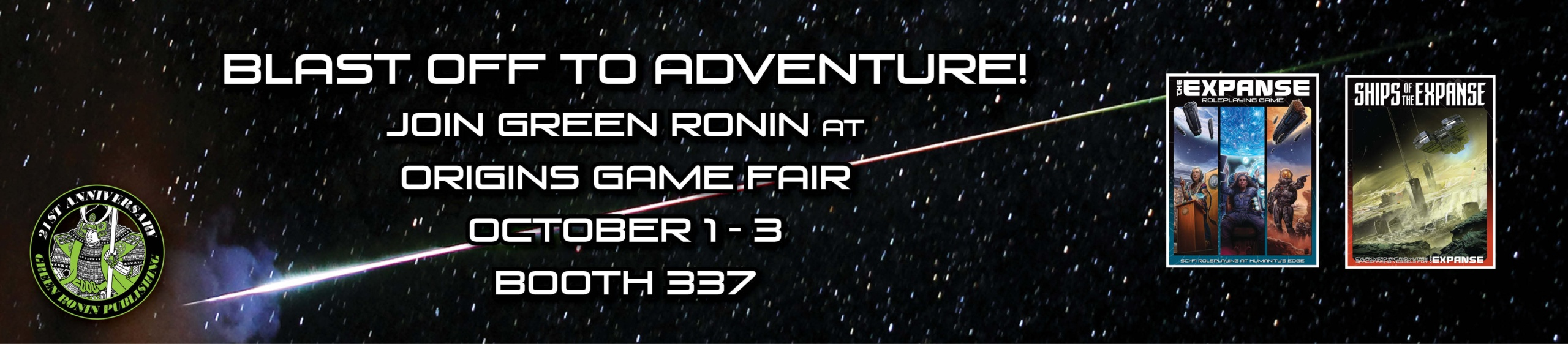 Green Ronin at Origins Game Fair: Come see us in booth 337!